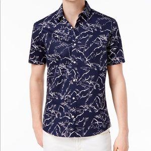 Michael Kors Men's Slim Fit Palm Print Top